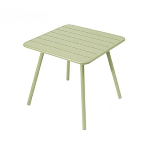 Table carrée 4 pieds LUXEMBOURG de Fermob, Tilleul