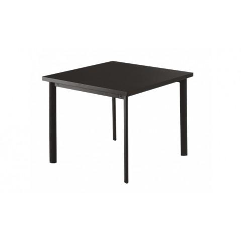 Table carrée 90x90 STAR de Emu, Fer ancien