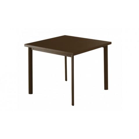 Table carrée 90x90 STAR de Emu, Marron d'Inde