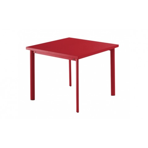 table carr e 90x90 star de emu rouge carlate. Black Bedroom Furniture Sets. Home Design Ideas