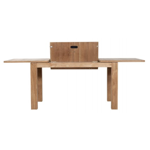 Table carrée à rallonges STRETCH en teck d'Ethnicraft, 140x140cm