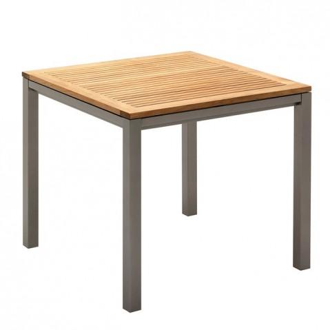 Table carrée AZORE de Gloster, tungsten