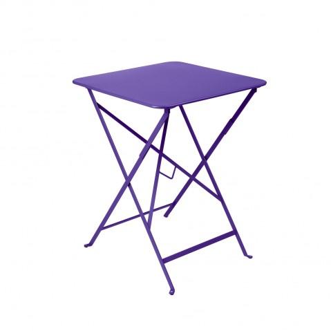 Table carrée BISTRO 57x57 aubergine de Fermob
