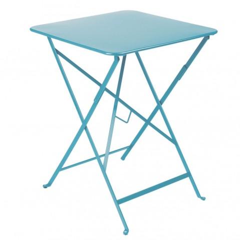 Table carrée BISTRO 57x57 bleu turquoise de Fermob