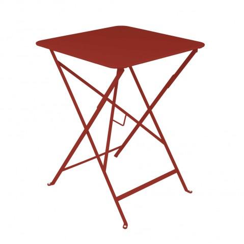 Table carrée BISTRO 57x57 piment de Fermob