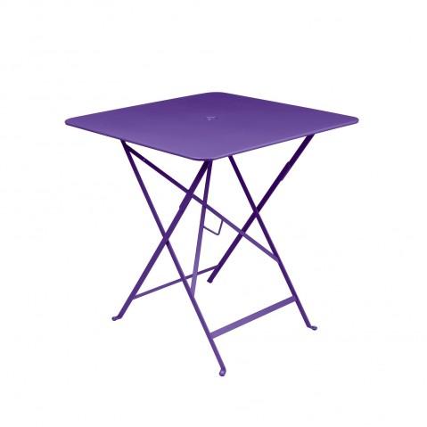 Table carrée BISTRO 71x71 aubergine de Fermob