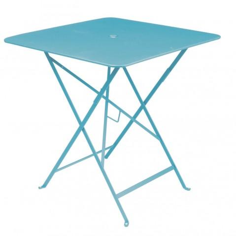 Table carrée BISTRO 71x71 bleu turquoise de Fermob