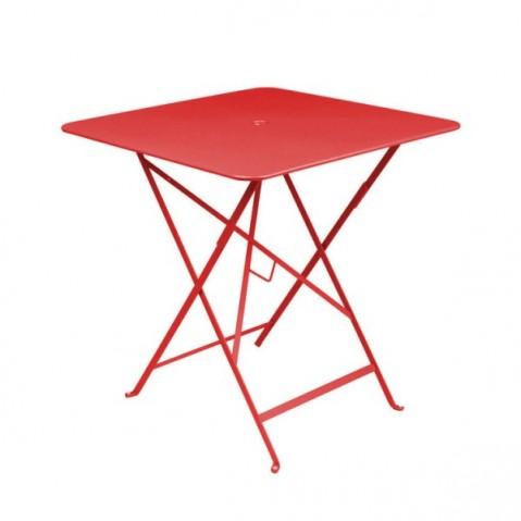 Table carrée BISTRO 71x71 coquelicot de Fermob