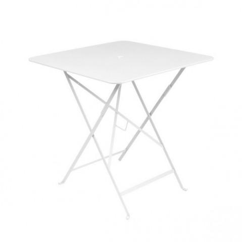 Table carrée BISTRO 71x71 de Fermob blanc coton