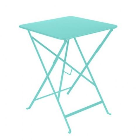 Table carrée BISTRO 57x57 de Fermob Bleu lagune