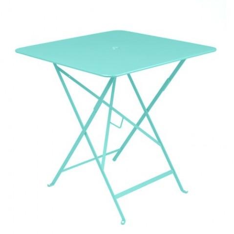 Table carrée BISTRO de Fermob Bleu lagune, 71x71