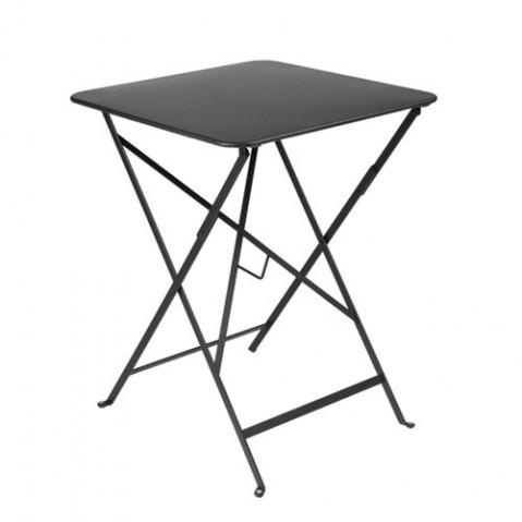 Table carrée BISTRO de Fermob Carbone 57x57
