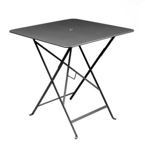 Table carrée BISTRO de Fermob Carbone 71x71