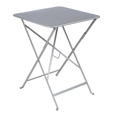 Table carrée BISTRO gris métal 57x57 de Fermob