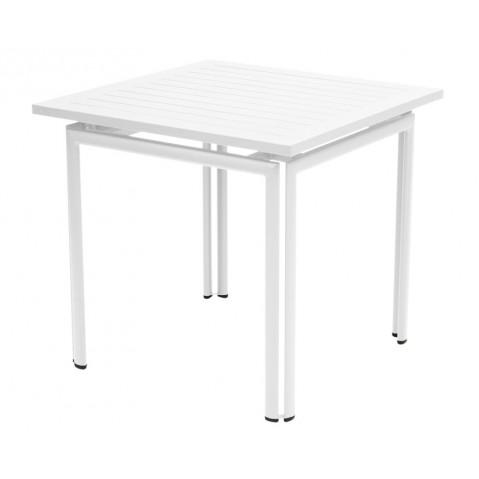 Table carrée COSTA de Fermob blanc coton