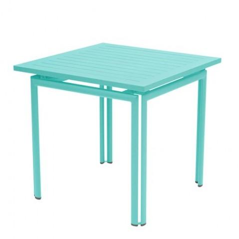 Table carrée COSTA de Fermob Bleu lagune