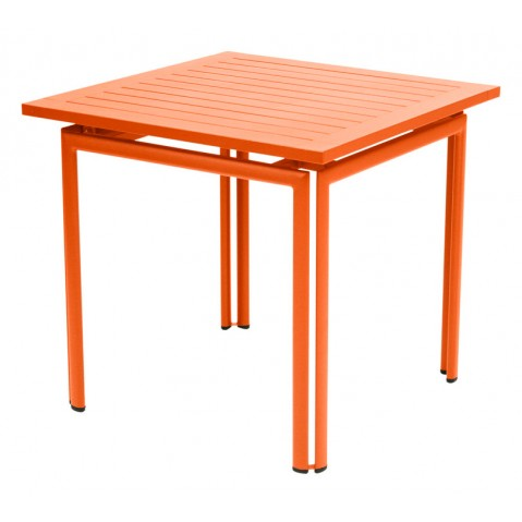 Table carrée COSTA de Fermob carotte