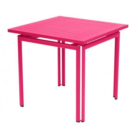 Table carrée COSTA de Fermob fuchsia