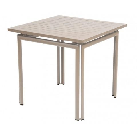 Table carrée COSTA de Fermob muscade