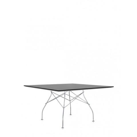 Table carrée GLOSSY de Kartell, Noir