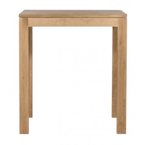 Table horeca en ch ne d 39 ethnicraft pieds 6x6cm largeur 70cm for Table carree en chene