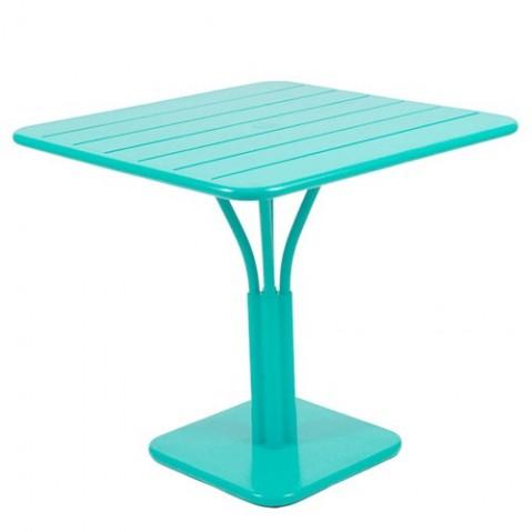 Table carrée LUXEMBOURG de Fermob Bleu lagune