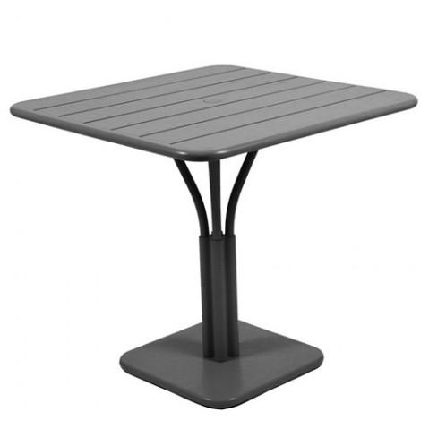 Table carrée LUXEMBOURG de Fermob Carbone