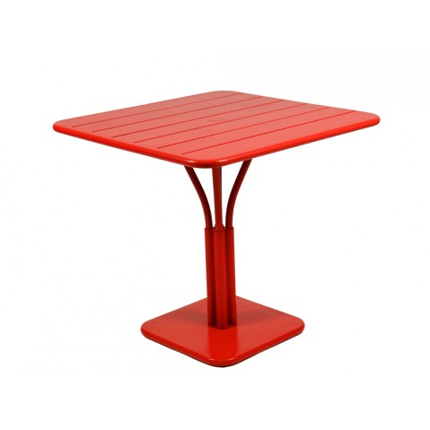 Table carrée LUXEMBOURG de Fermob coquelicot