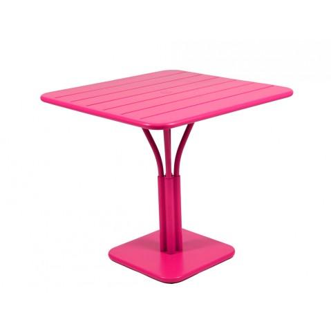 Table carrée LUXEMBOURG de Fermob fuchsia