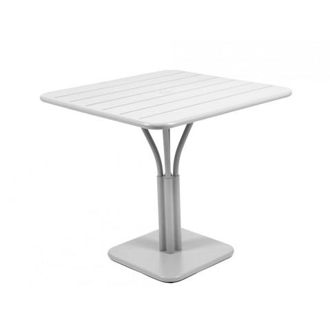 Table carrée LUXEMBOURG de Fermob gris métal