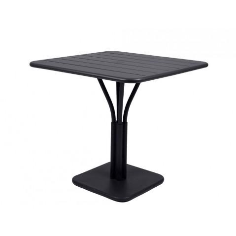 Table carrée LUXEMBOURG de Fermob noir réglisse