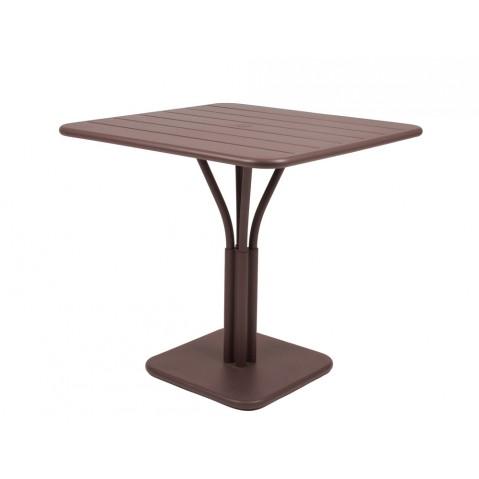 Table carrée LUXEMBOURG de Fermob rouille