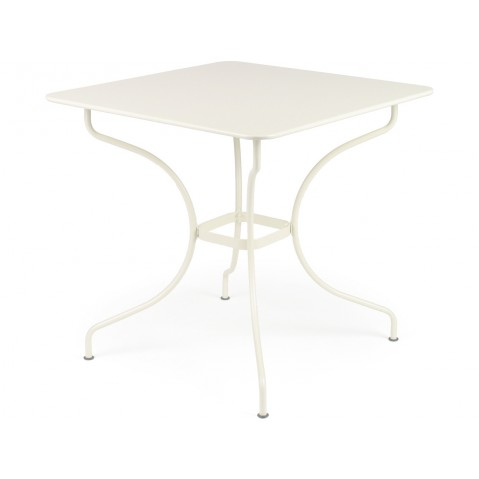 Table carrée OPÉRA de Fermob blanc coton