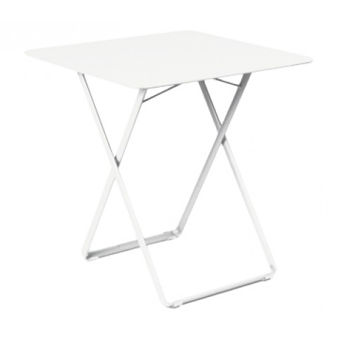 Table carrée PLEIN AIR de Fermob blanc coton