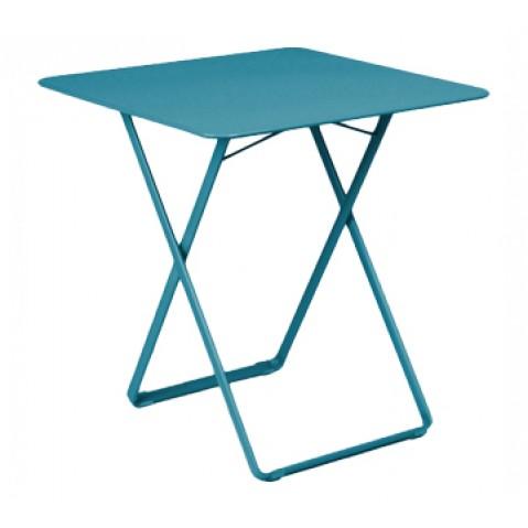 Table carrée PLEIN AIR de Fermob bleu turquoise
