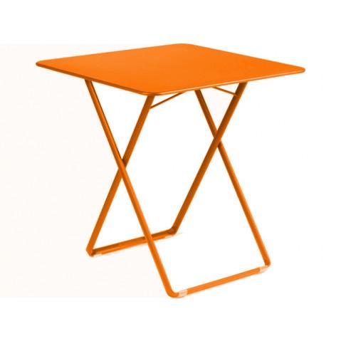Table carrée PLEIN AIR de Fermob carotte