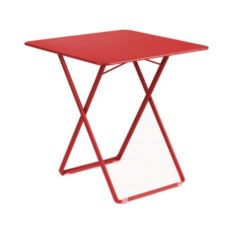 Table carrée PLEIN AIR de Fermob coquelicot