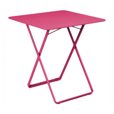 Table carrée PLEIN AIR de Fermob fuchsia