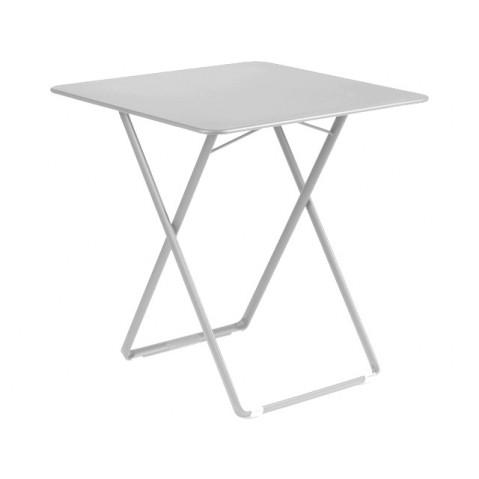 Table carrée PLEIN AIR de Fermob gris métal