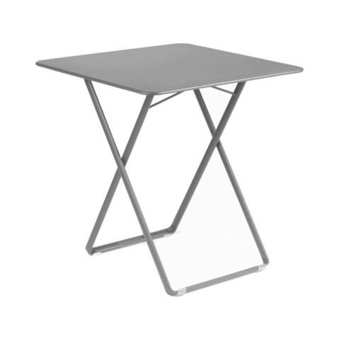 Table carrée PLEIN AIR de Fermob gris orage