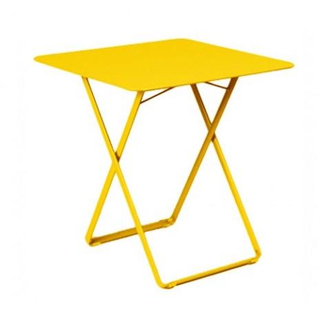 Table carrée PLEIN AIR de Fermob, Miel