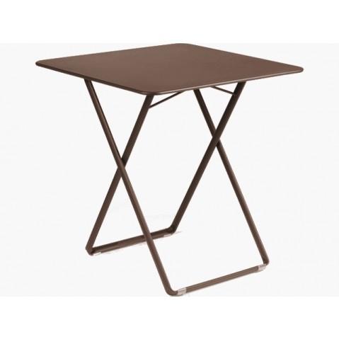 Table carrée PLEIN AIR de Fermob rouille