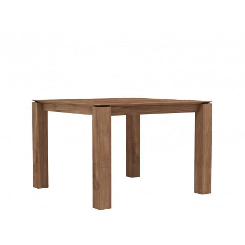 Table carrée SLICE en teck d'Ethnicraft, 150x150cm