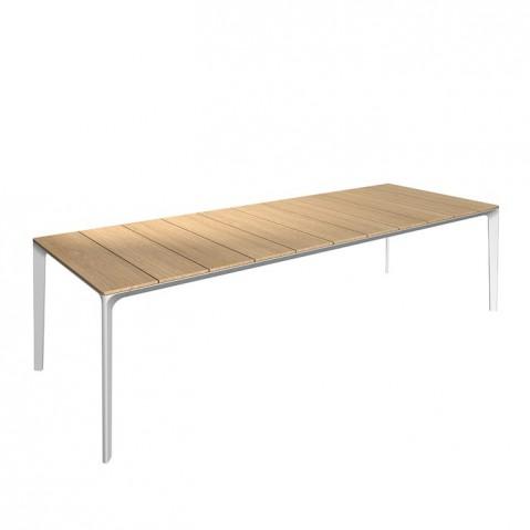 Table CARVER de Gloster teck et structure blanche, L. 280