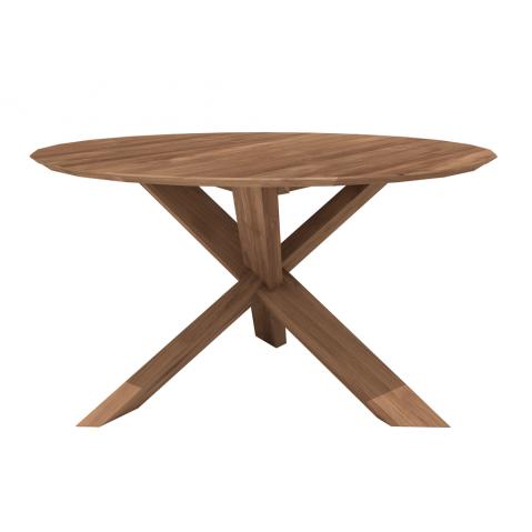 Table CIRCLE en teck d'Ethnicraft-D. 136