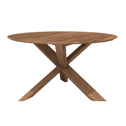 Table CIRCLE en teck d'Ethnicraft, 2 tailles