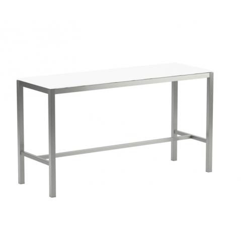 Table de bar en verre TABOELA de Royal Botania, 200x70, blanc