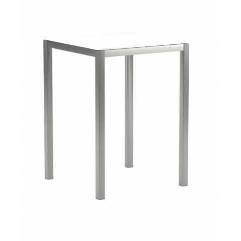 Table de bar en verre TABOELA de Royal Botania, 80x80, blanc