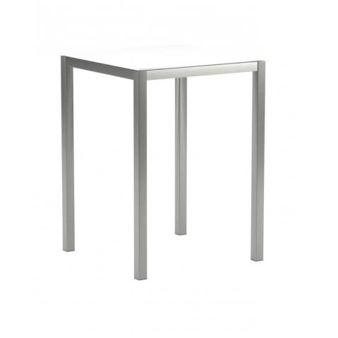 Table de bar en verre TABOELA de Royal Botania, 80x80, blanc