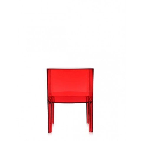 Table de nuit SMALL GHOST BUSTER de Kartell,  Rouge transparent
